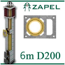 ZAPEL ECO S 6m Ø200 + W