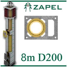ZAPEL ECO S 8m Ø200 + W
